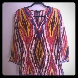 BCBG tunic top or beach cover up